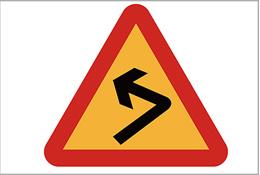 急转弯标识牌
