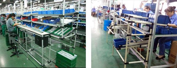 博革精益生产线设计与制作现场