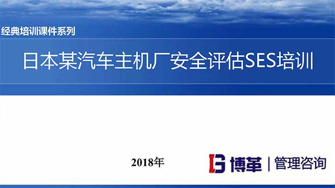 【精美PPT】日本某汽车主机厂安全评估SES培训课件