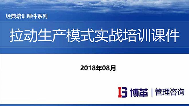 【精美PPT】拉动生产模式实战培训经典课件