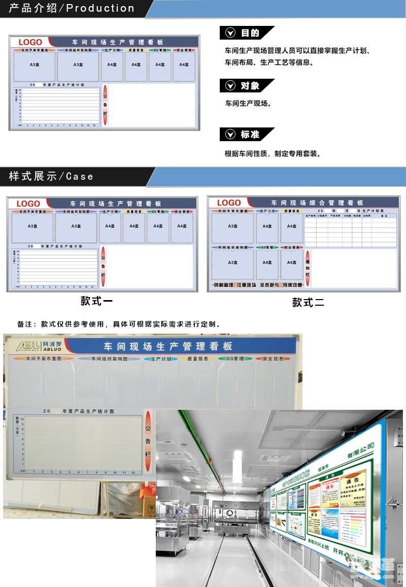 车间现场生产管理看板 目视化管理看板及标识标牌设计 上海博革企业管理