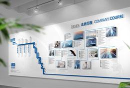 企业参观通道文化墙看板